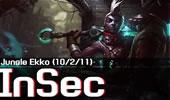InSec新英雄艾克打野,这么酷炫就是秀!
