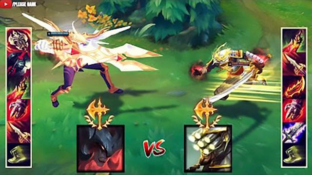 LOL:神装剑魔vs神装剑圣,哪个英雄更强?