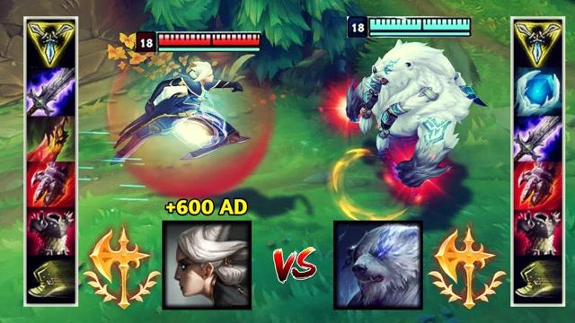 600AD的满级青钢影VS满级狗熊 哪个英雄更强?